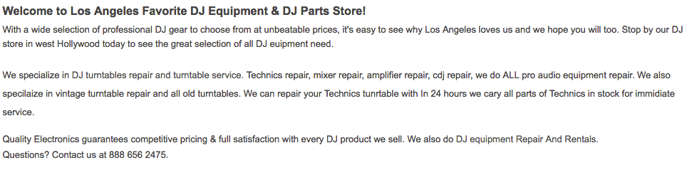 Welcome to Los Angeles Favorite DJ Equipment & DJ Parts Store!